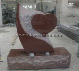 Natural fishing rod Headstone/Heart of granites Carving Memorial Monuments