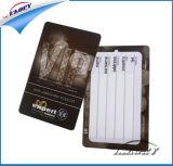 Dorato/argento/scheda di insieme dei membri bianca della scheda del biglietto da visita VIP di stampa della scheda del PVC