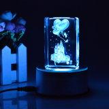 Kristall-Würfel Laser-3D
