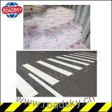 La strada principale bianca antiusura firma la riga riflettente vernice della strada della marcatura