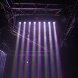 8 ПК 10W Полноцветные светодиодные лампы дальнего света перемещение головки блока цилиндров