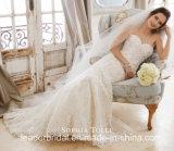 Le corset neuf des robes nuptiales 2018 sans bretelles de lacet d'amoureux a perlé les robes Z201 de Weding