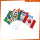 スポーツ・イベントのための中国卸し売りインドの手の振るフラグ