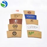 Manicotto di carta a gettare stampato abitudine della tazza di caffè di prezzi all'ingrosso