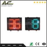 Signal lumineux différent imperméable à l'eau de rupteur d'allumage de compte à rebours du trafic numérique de la couleur 2 et 1