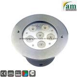 Indicatori luminosi al suolo messi LED rotondi 18W IP67 di illuminazione sotterranea esterna