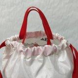 Cordão de poliéster mochila de náilon populares saco com porta-contentores