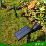4LEDs調節可能な太陽芝生の庭の壁ランプは屋外の景色をスポットライトで照らす