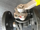 Acero al carbono Wcb 150lb 2PC Válvula de bola con brida