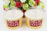 安い価格の習慣によって印刷される使い捨て可能なペーパーアイスクリームのコップ