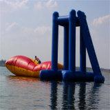 跳躍袋、大人の膨脹可能な水おもちゃのゲーム装置が付いている星のParaseleneのブランドの膨脹可能な水浮遊プラットホーム