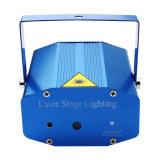 緑のレーザー光線をつけるリモート・コントロールディスコの段階