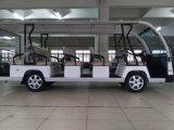 Carro Sightseeing da cor branca de 15 Seater com o chassi de grande resistência da liga de alumínio