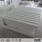 Dispersore moderno di pietra acrilico bianco della stanza da bagno di Kkr