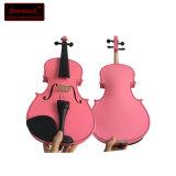 El mejor violín del color de rosa de la fibra del carbón califica precios baratos