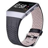 Cinturino di vigilanza originale del cuoio genuino per Fitbit ionico