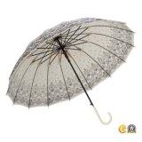 女性Used、日曜日または雨またはギフトの傘の高品質の傘のためのまっすぐな傘
