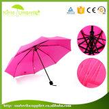 Falten-Regenschirm heißes des Verkaufs-21inch Handbuch-geöffneter des Weiß-3