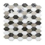 La Decoración de pared de azulejos de mosaico de piedra (OMST-312)