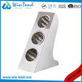 Support occidental à deux lignes commercial de panier de couverts de buffet de quatre réseaux d'acier inoxydable