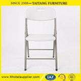منافس من الوزن الخفيف بيضاء خارجيّ يطوي بلاستيكيّة كرسي تثبيت يطوي [كمب شير]