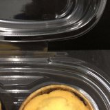 2つのコンパートメントペット高いドームのカップケーキの容器