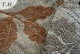 Le support argenté avec l'obscurité laisse le tissu de sofa de jacquard dans le Chinois