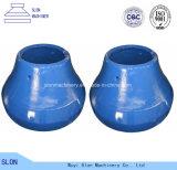 凹面高いマンガンのShanmeiボールはさみ金および円錐形の粉砕機のためのふた