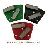 Outils abrasifs de meulage de chaussures de diamant de trapèze pour la rectifieuse d'étage
