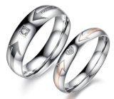 Nuevos anillos de los pares del corazón del amor de la manera para los hombres de las mujeres Wedding la joyería fina única del anillo de compromiso