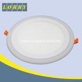 Doppeltes färbt elegante runde Instrumententafel-Leuchte