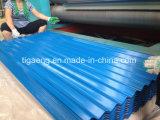 Sistema de material para techos galvanizado/prepintado del Galvalume con el tipo grabado y del fieltro