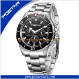 Horloge van het Roestvrij staal van het Horloge van de Kalender van mensen het Mechanische Mannelijke