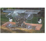 Alimentador de suspensão do pássaro do plexiglás do alimentador da água do pássaro