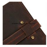 Vintage стиле из натуральной кожи крупного рогатого скота RFID блокирование денежных средств Clip Wallet