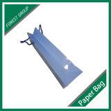 綿のハンドルが付いている青書袋