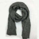 メンズレディース男女兼用の多重ケーブルの首のウォーマーの厚いカシミヤ織の感じの冬によって編まれるスカーフ(SK804)