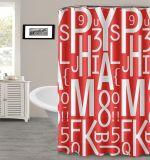 Mehltau freie gedruckte EVA-Duschvorhänge mit belasteter Unterseite