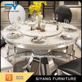 Conjunto de móveis mesa de jantar Cátedra Banquetes mesas de jantar em mármore de mesa