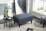 Taburete copetudo del otomano de la tela de los muebles de la sala de estar