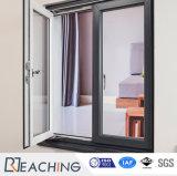 Aluminiumrahmen-Wärmeübertragung-Oberflächen-Flügelfenster-Fenster mit Luftschlitz-Schaufeln nach innen
