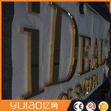 Декоративная Золотой титановый корпус наружного зеркала заднего вида изготовлены из нержавеющей стали с логотипом