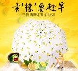 Dessins et modèles de fruits avec trois manuel de pliage parapluie ouvert