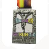 Medaglia scintillante variopinta del premio di maratona di Glitteryl con le sagole