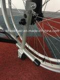 Ligera, plegable de aluminio silla de ruedas manual