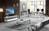 Патент закаленного стекла или имитация дерева верхней части обеденный стол из нержавеющей стали