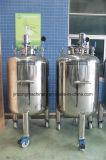 El tanque sanitario de calefacción y de enfriamiento del tanque líquido