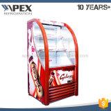 Showcase do ar aberto do supermercado, refrigerador da parte dianteira/refrigerador abertos do vértice