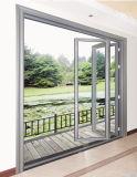Ventana Bi-Fold de aluminio exterior con el vidrio del estándar de Ausrtralian