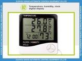 De binnen/Openlucht Digitale Hygrometer van de Thermometer met Klok